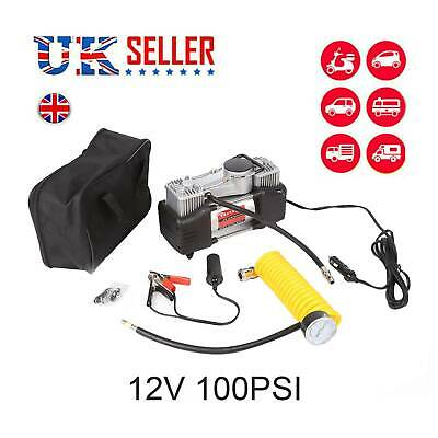 Heavy Duty 12V Electric Car Tyre Inflator 150Psi Air Compressor Pump Uk