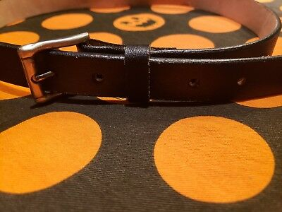 Kids Black Leather Belt Size 28 Made in Mexico