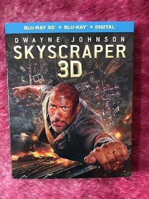 Skyscraper 3D ( 2D/3D Blu-ray/Digital ) 2 Disks Set with Slipcover 2018