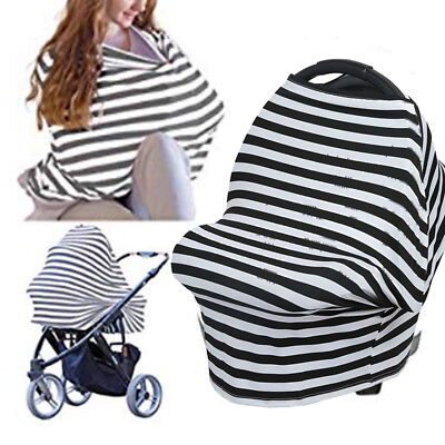 Stripe Mommy Baby Nursing Feeding Stroller Shopping Cart Sun Protect Cover Funny