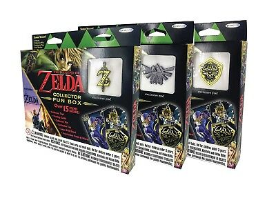 LEGEND OF ZELDA Collectors Fun Box includes Boosters Trading Cards Pin + More!