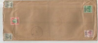MALAYA BMA 1947 REGIST commercial cover from Penang to India at $2.25 rate