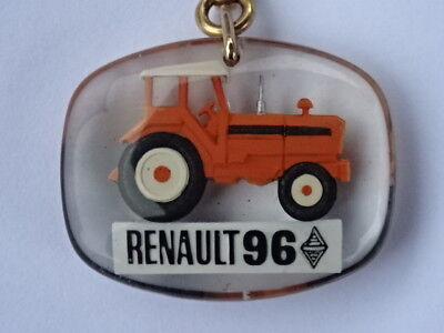 PORTE-CLES / Key-ring - BOURBON - RENAULT 96 TRACTEUR / Tractor - RARE+++ ! TOP