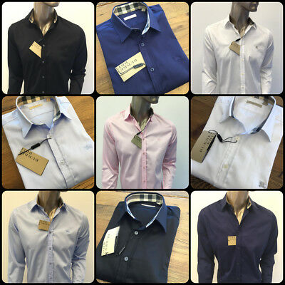 Nwt Burberry Brit Mens Cotton Casual Shirts