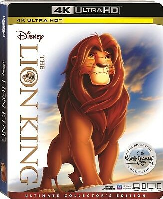 The Lion King (4K UHD Bluray) No Regular Bluray No Dig Code 12/4