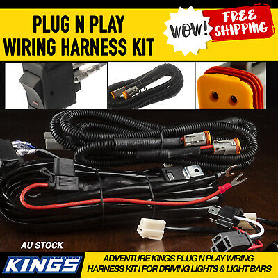 Adventure Kings Plug N Play Wiring Harness Kit   for Driving Lights & Light Bars