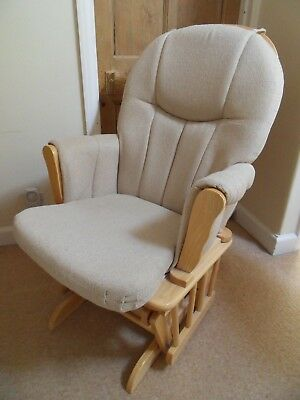 Beige Gliding Rocking Nursing Chair