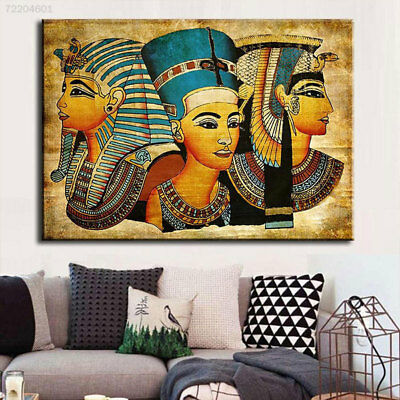 85FE Modern Abstract Egyptian Pharaoh Canvas Art Oil Painting For Home Decoratio