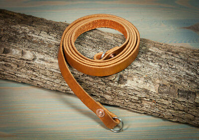 42 inch Hand Made Burnt Tan camera strap with copper rivets 10mm wide