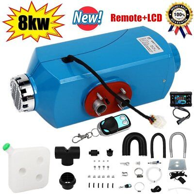12V 8KW Air Diesel Heater LCD Monitor Remote Silencer For Truck Boat Car 8000W K