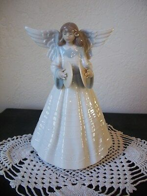 Lladro Christmas Angelic Cymbalist Retired 1992 Porcelain Figurine 05876-Singed