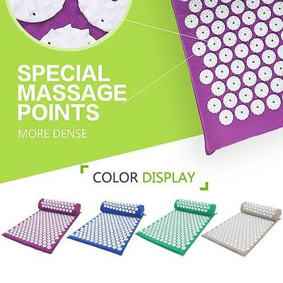 Acupressure Massage Acupressure Mat + Pillow Relax Stress Pain Relief Yoga Mat