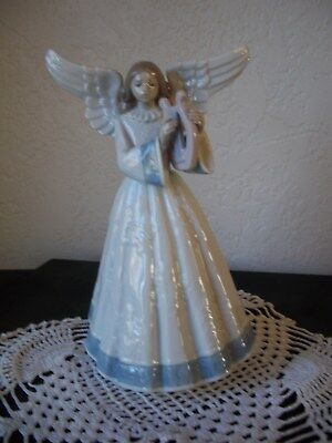 Lladro Heavenly Harpist Tree Topper Angel #5830 Figurine Excellent condition