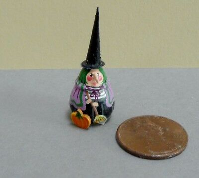 Adorable 1:12 Scale Miniature Karen Markland Long Nose Witch