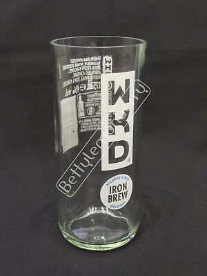 Wkd Iron Brew Tumbler Glass (New Design) - 100% Recycled! - Pub/bar/bbq