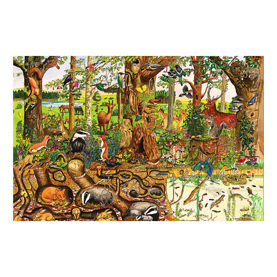 Bigjigs Toys Wooden Woodlands Floor Puzzle (48 Piece) Children's Large Jigsaw