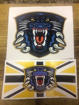 Nottingham Panthers Vinyl Stickers set of 2 Elite Ice Hockey League