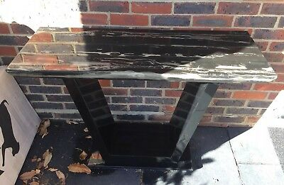 Art Deco Style Console Table Marble Effect