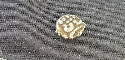 Very rare Tiny Celtic Style Silver India/Dutch 17 hundreds Fanam Coin L112y