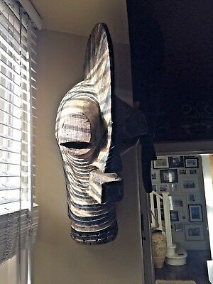Old Rare African tribal Songye Mask (Congo DRC)