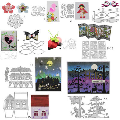 Flower Frame DIY Cutting Dies Metal Stencil Scrapbooking Album Paper Card Art