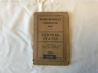 Rand-McNally vintage Commercial map of the Central States
