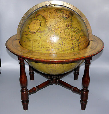 An Antique12 Inch Diameter Terrestrial Table Globe By Cary Circa 1825