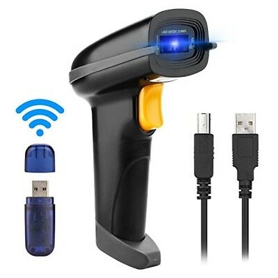 Wireless Automatic Barcode Scanner 433MHz 60 Meters Transmission Distance Black
