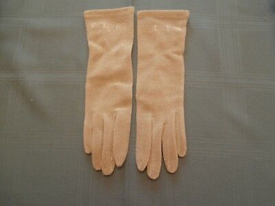 Vtg Silver Lurex Lame Fabric Gloves Made in Japan One Size