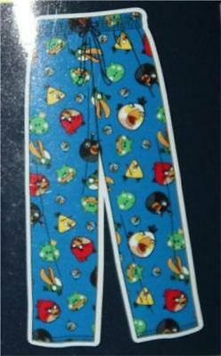 MENS ANGRY BIRDS SPACE FLEECE SLEEP LOUNGE PANTS w/ Drawstring clothes L LARGE