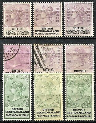 Bechuanaland 1888 issue SG 10 - 17, (inc 12a), Mint Hinged & used, CV £450