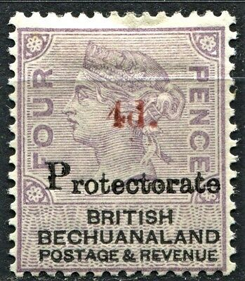 "Bechuanaland 1888, 4d on 4d ""Protectorate"" opt, SG 51, Mint Hinged - CV £150"
