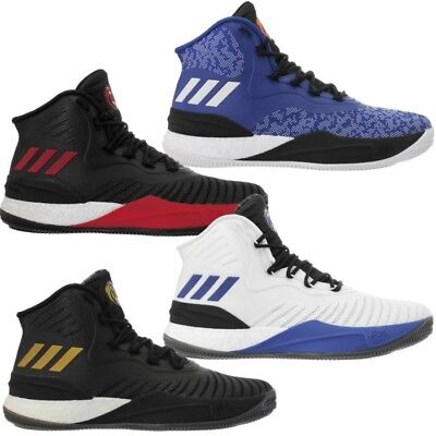 Adidas D Rose 8 men s basketball shoes boots blue white black air-mesh NEW d31c8a95d