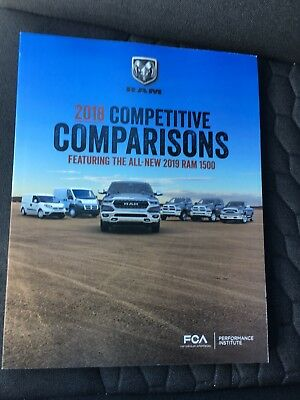 2018 DODGE RAM COMPETITIVE COMPARISONS - 282-page Original Dealer Sales Brochure