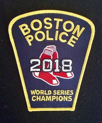 Boston Police 2018 Red Sox World Series Champs Patch