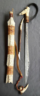 Dayak Mandau Ceremonial Headhunter Sword from Kalimantan, early 20th Cent.