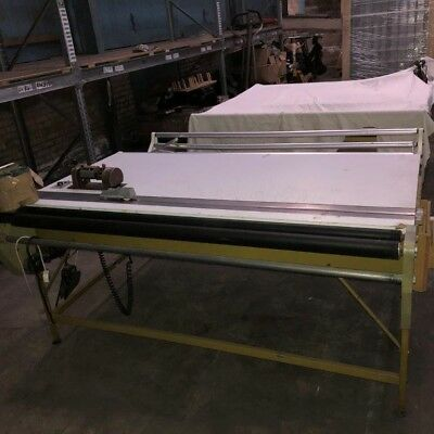 2 x Fabric Cutting Tables with Trumeter counter and cutting blade. (amended)