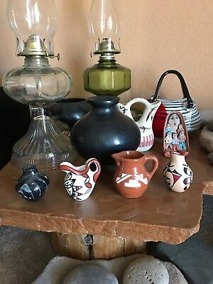 Vintage Native American Jemez Pueblo Navajo Sioux Pottery Pot Collection Signed