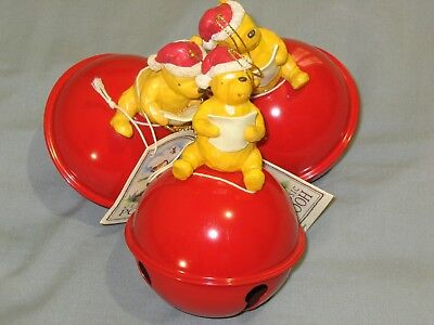 """Winnie the Pooh """" Sounds of the Season Jingle Bell  """" Classic Ornaments ~ NWT"""