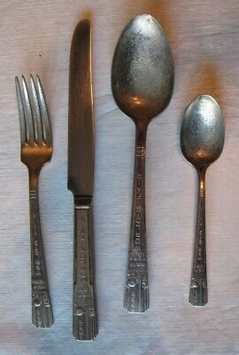 New York Worlds Fair 1939 Silverware 4 Pieces Wm Rogers Is