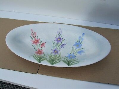"""Radford decorative bowl from the 1930s. 12"""" long with lovely floral decoration"""