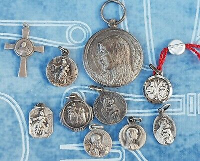 Lot of 10 Pieces Antique - Vintage Christianity Saint Medals