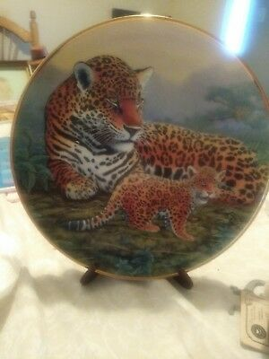 "The Franklin Mint - ""Jaguar And Cubs""  By Michael Matherly Plate"