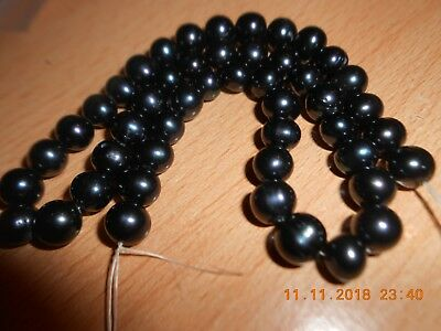 Black Freshwater Cultured Potato Pearls - Approx 7x6 to 7x9mm - Jewellery Maker