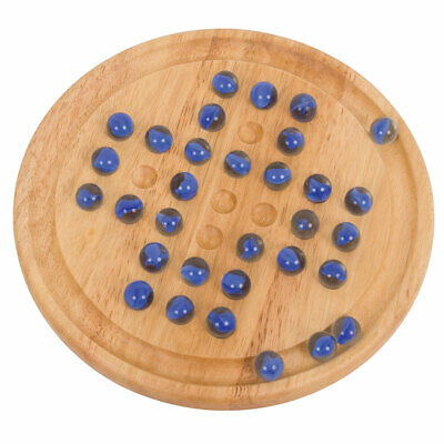 Bigjigs Toys Classic Wooden Solitaire Game Marbles Traditional Board Playset