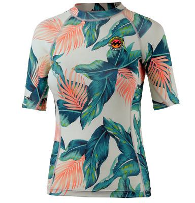 NEU Billabong Surf Capsule - Surf Shirt Damen - weiß/allover
