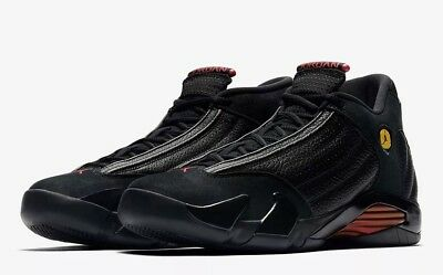 "finest selection 54bca 04206 Air Jordan 14 Retro ""Last Shot"" 487471-003 Black Red Size UK 9"