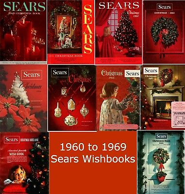 1965 - 1969 Sears Wishbook Christmas Catalogs on Disc