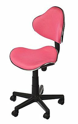 PINK Office Computer Shop Home Breathable Fabric Chair Swivel Studio Vibrant