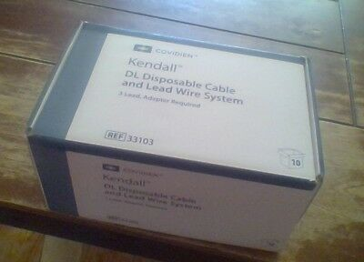 Covidien Kendall 33103 DL Disposable Cable and Lead Wire System 3 Lead 10/Box